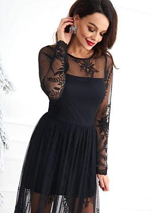 a17eee153dd1 Neprehliadnuteľné šaty Cocomore v nesmrteľnej čiernej farbe