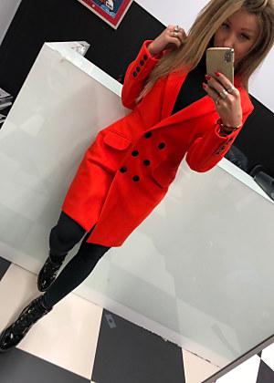 f1277b7871bb Jarný kabátik by Mielczarokowski v neprehliadnuteľnej červenej farbe